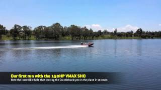 6. Putting our new Yamaha 150hp VMAX SHO on the water for the first time.