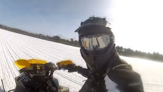 5. Ski-Doo 800 E-Tec with a HIGH speed GPS run...in HD