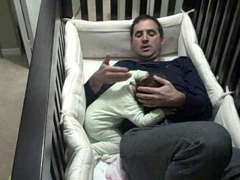 Father goes into baby crib HAPPY FATHER S DAY
