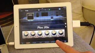 Demonstration of the Rocksmith RealTone Cable for recording and practice on an iPad and Mac with Garage Band and JamUp.