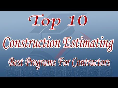 Top 10 Construction Estimating Software  10 Best Programs For Contractors Tuts by Aamir Nadeem