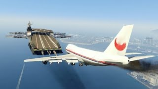 "Video Massive Air Plane ""Emergency Landing"" at helicarrier(MARVEL)  (GTA 5 Amazing and funny Moments) MP3, 3GP, MP4, WEBM, AVI, FLV Agustus 2018"