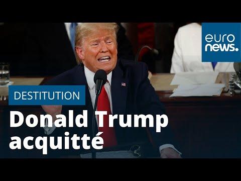 Donald Trump acquitté à son procès en destitution