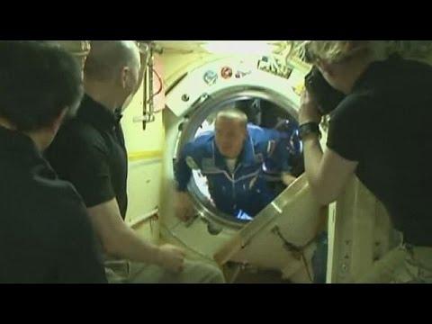 Estação Espacial Internacional recebe mais três habitantes