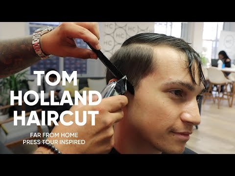 Tom Holland Haircut - Spider-Man: Far From Home Press Tour Inspired Hairstyle