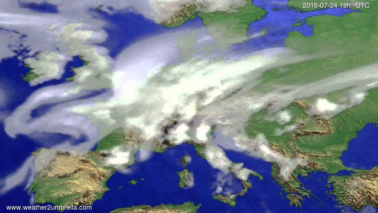 Cloud forecast Europe 2015-07-22
