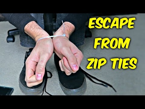 How to Escape from Zip Ties with Shoelaces (видео)
