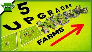 5 Minecraft Village Farm 5x5 Upgrades Speedbuild Timelapse