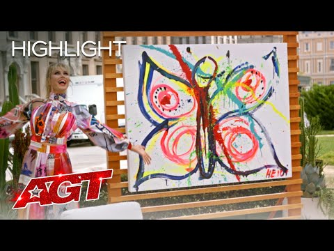 Heidi Klum Unleashes Her Painting Prowess - America's Got Talent 2020