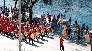 Apresentação da Banda Marcial do Corpo de Fuzileiros Navais em homenagem ao Dia do Marinheiro na Praça Mauá - RJ...