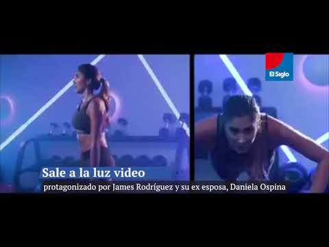 James, en publicidad de la nueva colección deportiva de su ex Daniela Ospina.