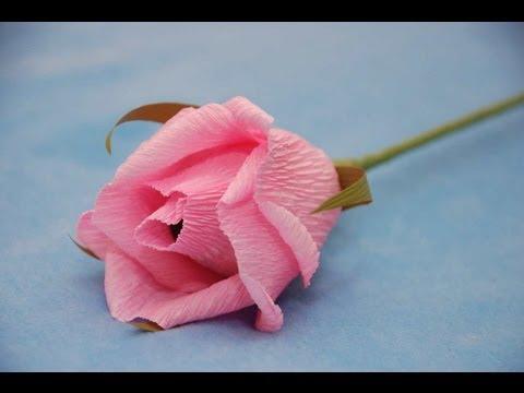 Букет роз из гофрированной бумаги мастер класс