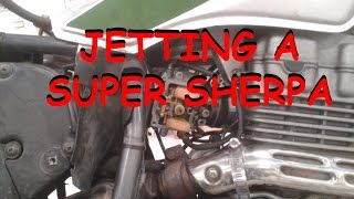 5. Jetting Carb in a Super Sherpa without removing carb from bike.