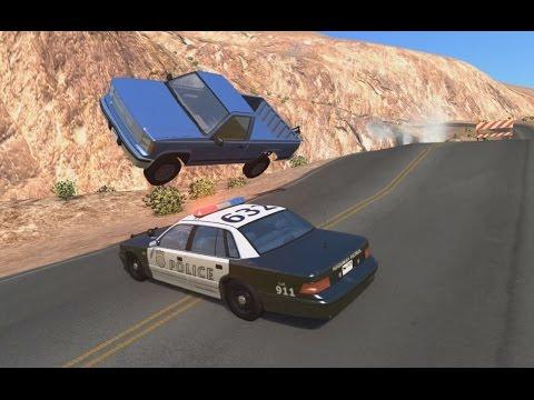 Police Roadblock Jumps, Pursuits & Crashes 6 | BeamNG.drive