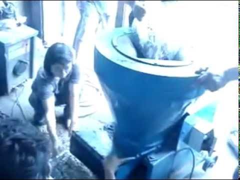 เครื่องย่อยผักตบ พืชเปียกและขยะเปียก
