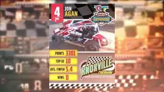 Knoxville Raceway 360 2nd place points finisher Jon Agan