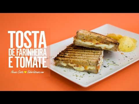 Tosta de Farinheira e Tomate