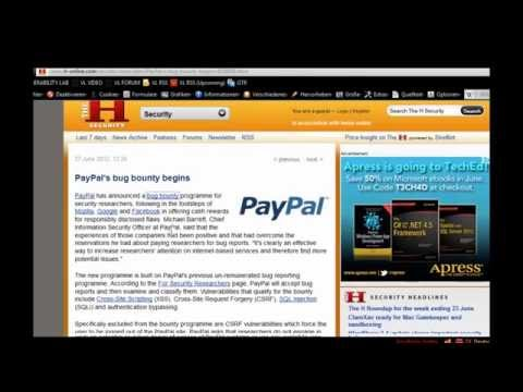Review of PayPal Security Holes Identified by Vulnerability Lab in 2012 – Video