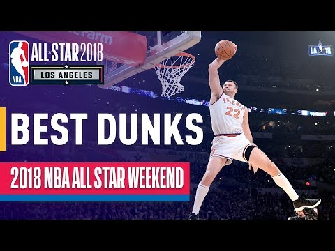 BEST DUNKS From 2018 All-Star Weekend! (Donovan Mitchell, LeBron James, and More!) (видео)