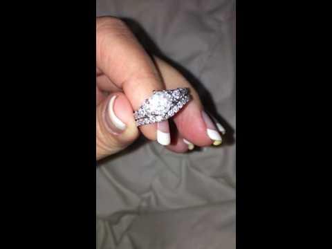 STUNNING 5 five carat ct total weight diamond wedding set engagement ring