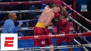 Bryant Jennings wins by TKO over Alexander Dimitrenko with huge uppercut | ESPN