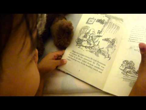 My 3.5 year old girl reading Roald Dahl Fantastic Mr Fox (2)