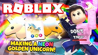 Making A Neon Golden Unicorn In Adopt Me New Adopt Me Golden
