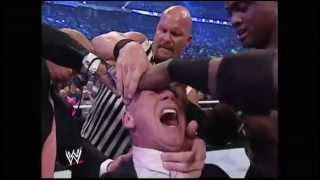 Donald Trump bodyslams, beats and shaves Vince McMahon at Wrestlemania XXIII