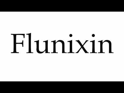 How to Pronounce Flunixin