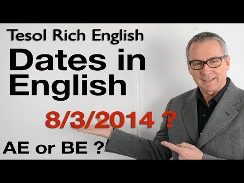 Learn English - understanding dates - British and American English