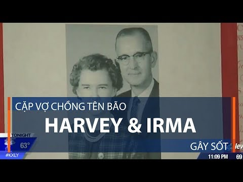 Cặp vợ chồng tên bão Harvey & Irma gây sốt | VTC1 - Thời lượng: 102 giây.