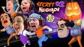 HELLO NEIGHBOR PUMPKIN HEAD! 👻 Halloween Hide-n-Seek Secret Neighbor + FGTEEV House Alarm Goes Off