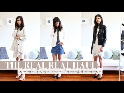 New Transitional Wardrobe Additions - The Real Real Pre Loved Try On Haul + Lookbook | Mademoiselle (видео)
