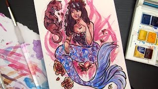 #Mermay is a hashtag on social media for artists drawing mermaids for the month of may. Here's mine! Come join in on the fun~ Supplies used in video ________...