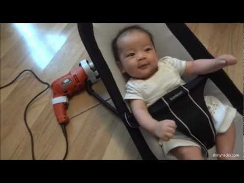 Dad Uses Power Tool To Rock Baby