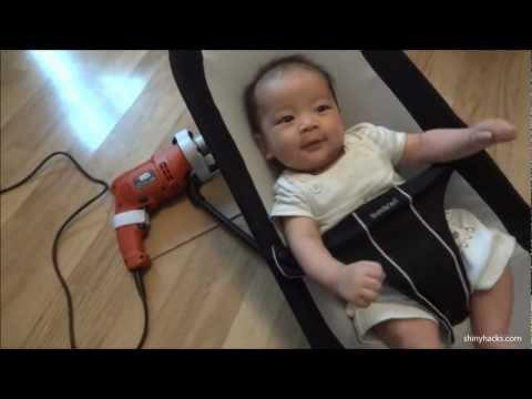 Selbstgemachte elektrische Babywippe