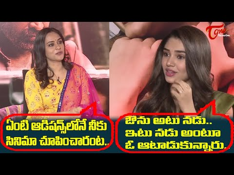 Krithi Shetty about her funny Experience | Uppena Team Interview | Vaishnav Tej | Teluguone Cinema