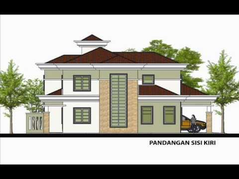 pelan rumah banglo - Sila layari http://www.rekabentukrumah.com untuk tempahan pelan. Rekabentuk Pelan Rumah D2-03 (Banglo 2 tingkat 6 bilik/ 3 bilik air berkeluasan 200.3 meter ...