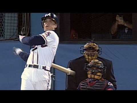 Video: 1995 WS Gm2: Chipper collects his first hit in the World Series