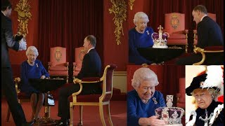 Video 'She's treating it like it's hat!'  BBC viewers praise Queen for being casual about the Crown MP3, 3GP, MP4, WEBM, AVI, FLV Januari 2018