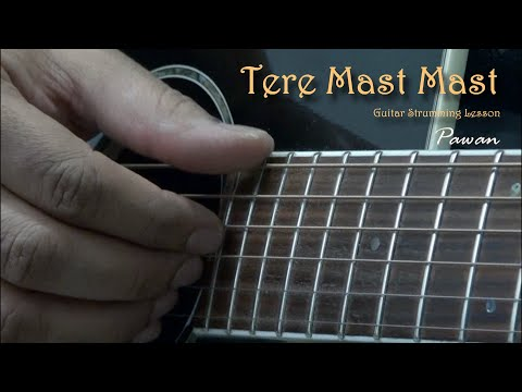Video Tere Mast Mast, Pee Loon & Man Lafanga - Guitar Chords Lesson by Pawan download in MP3, 3GP, MP4, WEBM, AVI, FLV January 2017