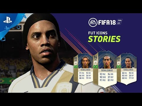 FIFA 18 - FUT ICONS Stories Ft. Ronaldinho | PS4