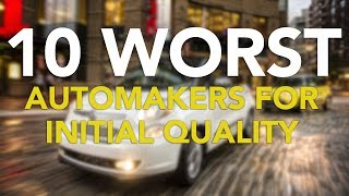 The J.D. Power 2017 U.S. Initial Quality Study has been released. Each year, the J.D. Power U.S. Initial Quality Study examines 233 problems, organized into eight categories, measuring new vehicle quality at 90 days of ownership. This year's study was based on nearly 80,000 responses from owners and lessees of 2017 model year vehicles, with consumers being surveyed from February through May.New vehicle quality overall for the industry reached a new record high, improving eight percent compared to last year's record-setting year. The industry average for the 2017 study is 97 problems per 100 vehicles (PP100), down from 105 a year ago. According to J.D. Power, the only category to do worse this year was features, controls, and displays. The largest increases in problems were for cruise control, lane departure warning, collision avoidance/alert systems, and blind spot warning.Subscribehttp://www.youtube.com/subscription_center?add_user=AutoGuideVideoYouTube - http://www.youtube.com/user/AutoguideVideoFacebook - http://facebook.com/AutoGuideTwitter - http://twitter.com/AutoGuideGoogle+ - http://goo.gl/LBxsPWeb - http://www.AutoGuide.comAutoGuide reviews the latest new cars with test drives, car comparisons and shootouts plus coverage of breaking auto industry news, auto shows, rumors and spy photos. Help shop for your new car with informative car buying tips and car recall news, and be entertained with feature stories, Top 10s and car review videos.