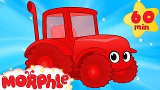 My Red Tractor's Farm Day ( +1 hour My Magic Pet Morphle kids videos compilation)