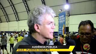 Educação, Saúde e Abastecimento, prioridades eleitas no ODE em Sousa; RC entrega equipamentos aos Municípios