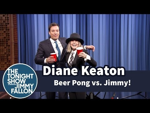 Beer Pong with Diane Keaton