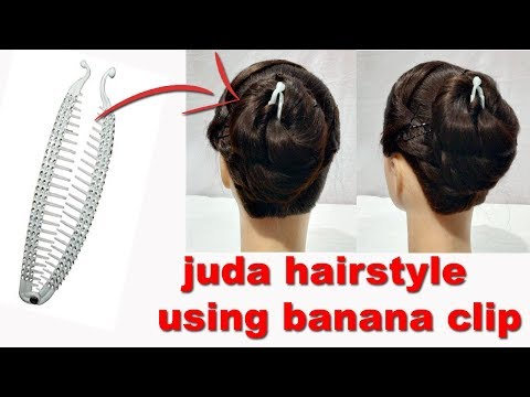 easy juda hairstyle using Banana Clip  Everyday juda Hairstyles For Long hair  New hairstyles