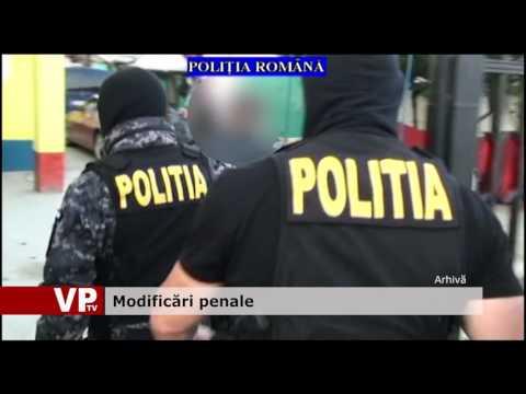 Modificări penale