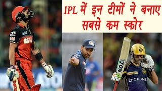 Top 5 lowest team totals of IPL history, RCB leads the list. There have been alot of low scoring matches in IPL. In the 27th Match of...