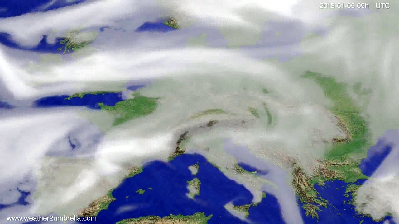 Cloud forecast Europe 2018-01-01